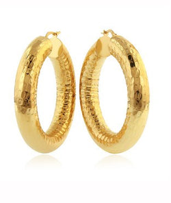 Martellato Round Hoop Earrings - 8x30mm