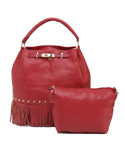 Fiona Trends Red PU Shoulder Bag,6009_RED