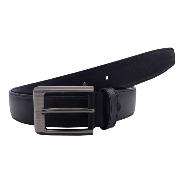 Baluchi's Black Textured Semi Formal Men's Belt $ BLC_PMB_2