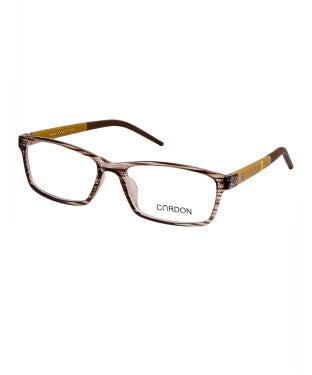 Cardon Transparent Brown Rectangular Full Rim EyeFrame