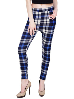 Baluchi Check Plaid Print Jeggings $ BLC_JEG_26