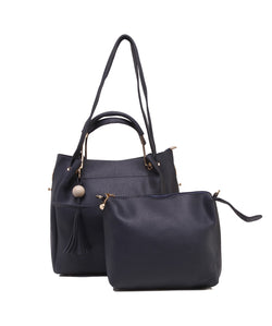 Fiona Trends Blue PU Shoulder Bag,612_BLUE