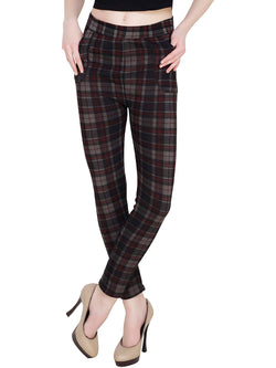 Baluchi Check Plaid Print Jeggings $ BLC_JEG_22