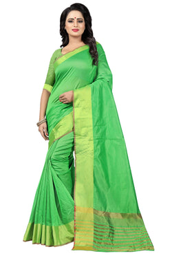 YOYO Fashion Latest Fancy Kota Dhupian Parrot Green  Saree $ SARI2581 Parrot Green