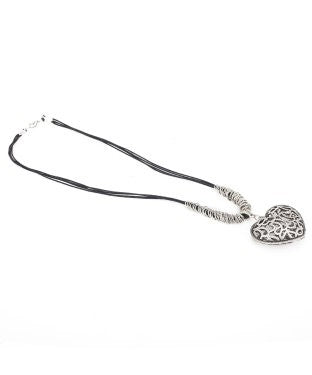 Aradhya NA Silver Plated Brass, Fabric Necklace