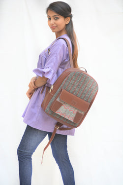 Khadi and Leatherite Laptop Bag $ IWK-LPBAG-03