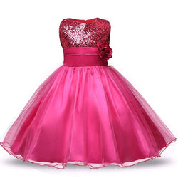 STYLEROBE Kid Girls Sequin Flared Full-Length Ball Gown $ SC01_pink