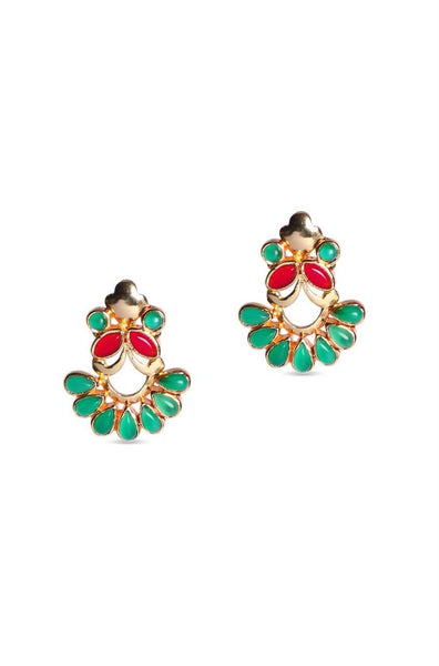Bauble Burst Green Fly Earrings