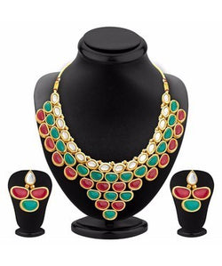 Sukkhi Traditionally Gold Plated Kundan Necklace Set For Women