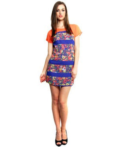 XNY Multicolor SHORT DRESS