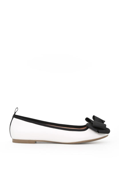 London Rag Women's White Flat Ballerina $ SH1625