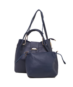 Fiona Trends Blue PU Shoulder Bag,613_BLUE