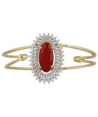 aradhya Alloy Ruby Yellow Gold Bracelet
