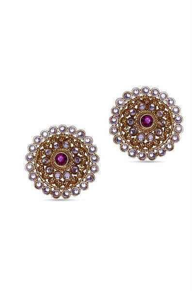 Studded Shield Earrings - JPIMEAR1367