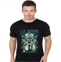 Partum Corde Premium Men's Modern Fit Round Neck T shirt LA REBEL $ LA REBEL1543