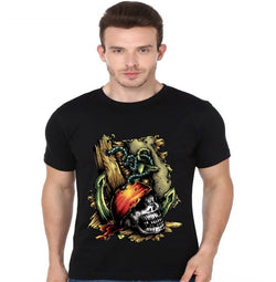 Partum Corde Premium Men's Modern Fit Round Neck T shirt Dead Pirate $ Dead Pirate1243