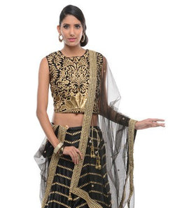 Semi Crepe Lehenga Choli with Dupatta