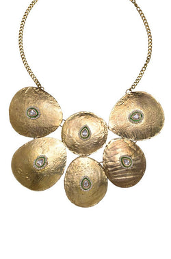 Bauble Burst Metal Collage Necklace