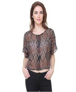 Redpose Printed paisley casual top