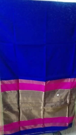 Festive Buzz Blue Cotton Handloom Sarees $ 1404