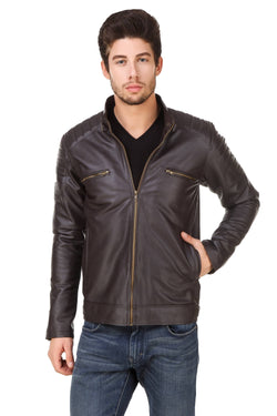 Smerize Men's Wolverine Faux Leather Jacket $ 5SME