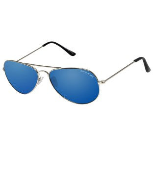 David Blake Blue Aviator Mirrored UV Protection Sunglass