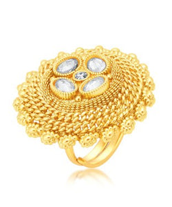 Sukkhi Fascinating Gold Plated Ring For Women