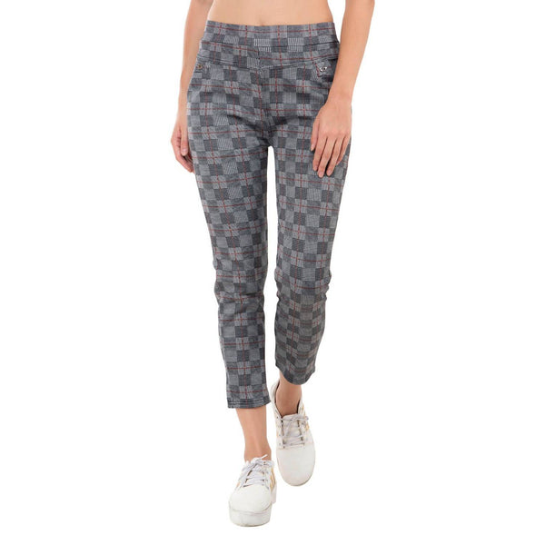 Baluchi's Check Plaid Print Jeggings $ BLC_JEG_07