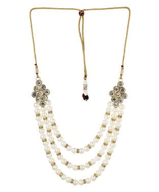 Aradhya Pearl Crystal Necklace