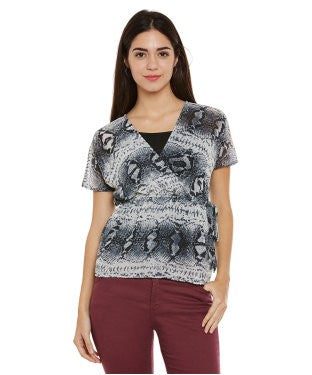 Oxolloxo Multicolor Abstract Print Top