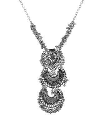aradhya Sterling Silver Plated Metal Necklace