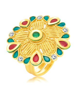 Sukkhi Blossomy Gold Plated Ring For Women