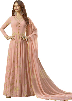 YOYO Fashion Peach Faux Georgette Anarkali Salwar Suit & YO-F1312