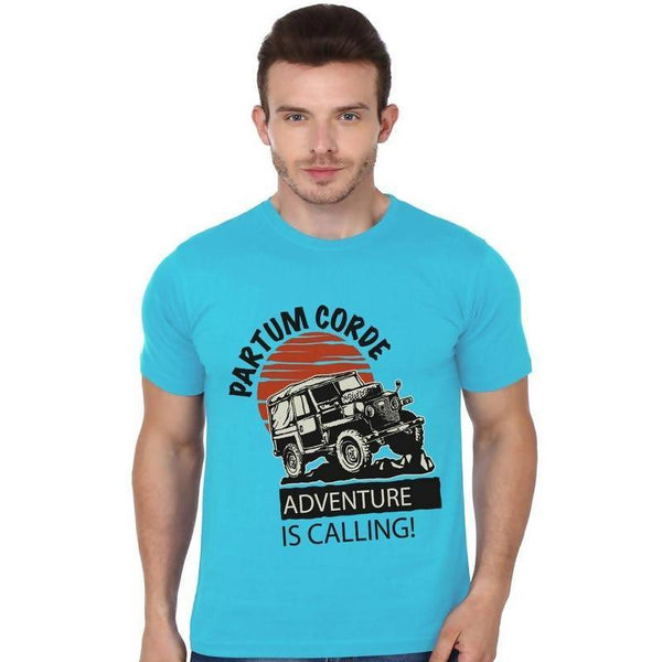 Partum Corde Premium Men's Modern Fit Round Neck T shirt Offroad Adventure $ Offroad Adventure1072