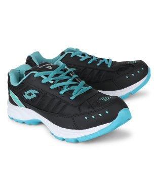 KACEY Black & Cyan EVA Sole Sports Shoes