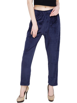 Baluchi 'PLUS SIZE' Women Winter Woollen Velvet Pyjama Bottom Pant with Fleece Inside Size- 30 to 38 $ BLC_PYJBLU_01