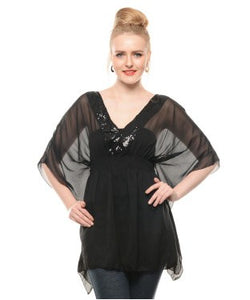 ENTEASE Kaftan Top
