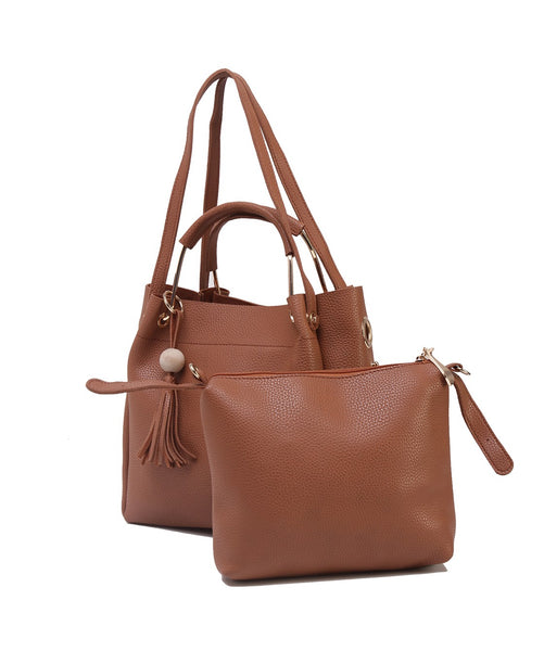 Fiona Trends Tan PU Shoulder Bag,612_TAN