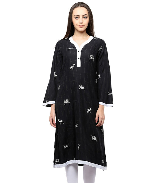 BLACK COLOR COTTON HOMA KURTIS