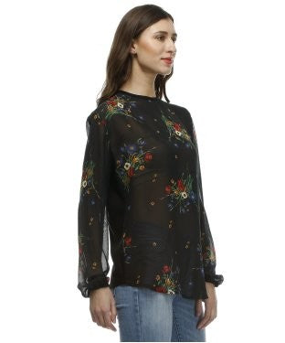 Glam a gal black and multi tunic