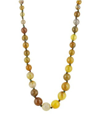 aradhya Onyx Yellow Gold Plated Alloy Necklace