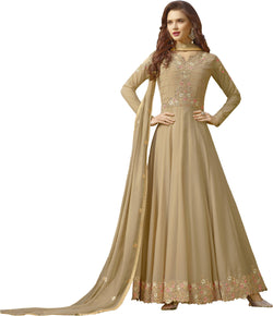 YOYO Fashion Beige Faux Georgette Anarkali Salwar Suit & YO-F1310