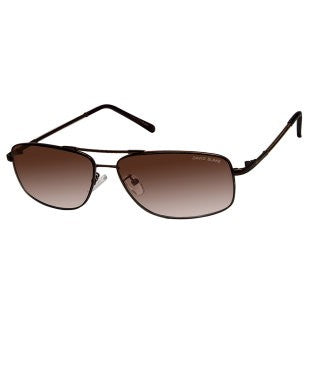 David Blake Brown Rectangular Gradient, UV Protected, Mirrored Sunglass