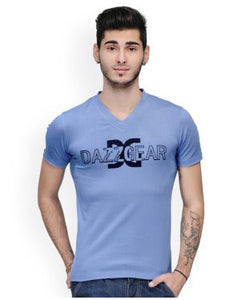 Dazzgear Men's Blue V Neck MTV-70 T-Shirt