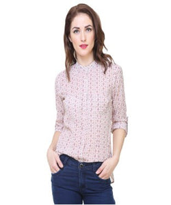 REDPOSE PINK PRINTED CASUAL SHIRT