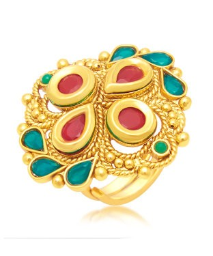 Sukkhi Delightful Gold Plated Ring For Women