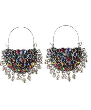 Aradhya Beads Metal Drop Earring, Dangle Earring, Chandbali Earring, Hoop Earring