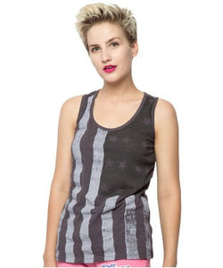 American Swan Black, Brown And White S/L Top