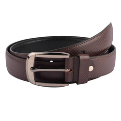 Baluchi's Brown Textured Semi Formal Men's Belt $ BLC_PMBR_3