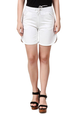 Fame 16 Above knee Women's White Denim A line Denim Shorts $ F16-1600127